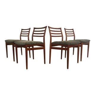 Erling Torvits Danish Teak Dining Chairs - Set of 4