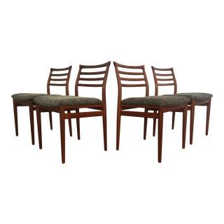 Erling Torvits Danish Teak Dining Chairs - Set of 4