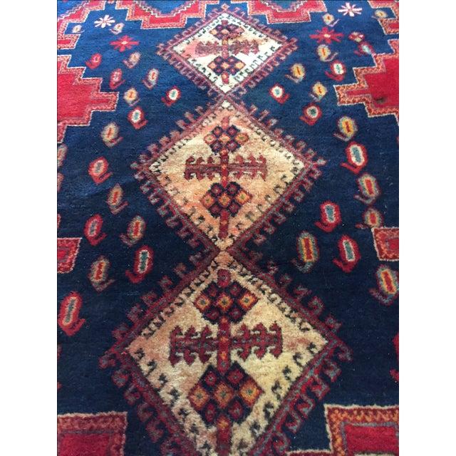 Vintage Ornate Kazak Persian Rug - 5' x 6' - Image 6 of 10