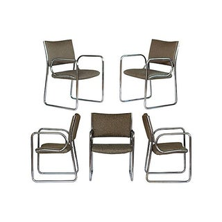 1970s Chrome Armchairs - S/5