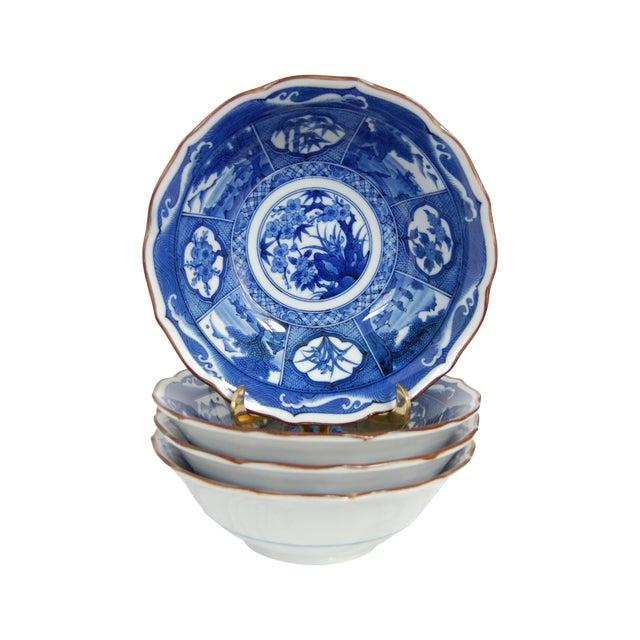 Blue & White Japanese Bowls - Set of 4 - Image 1 of 7