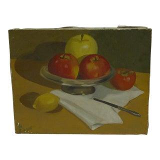 C. 1960 Original Fruit Dish Painting by Babs Battimore