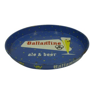 """Vintage """"Ballantine Ale & Beer"""" Serving Tray"""