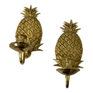 Hollywood Regency Pineapple Sconces - A Pair