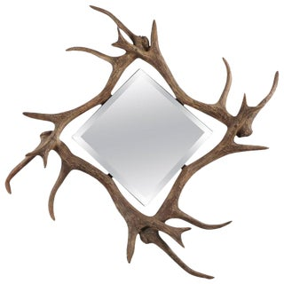 Contemporary Modern Deer Antler Wall Mirror