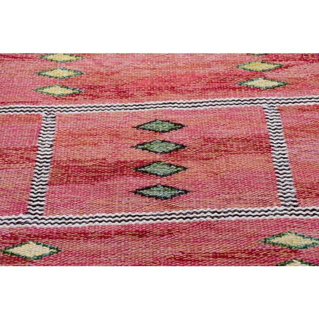 Vintage Carl Dagel Flat-Weave Swedish Carpet - Image 5 of 8