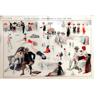 "1922 La Vie Parisienne ""Day at the Beach"" Print"