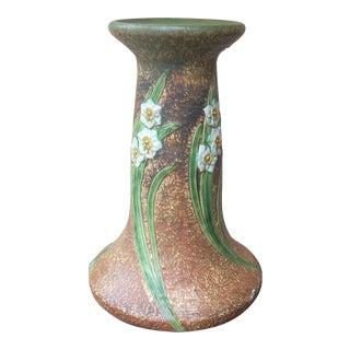 Vintage Roseville Daffodil Motif Pedestal