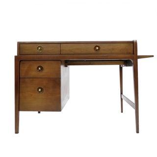 1960s John Van Koert for Drexel Walnut Desk