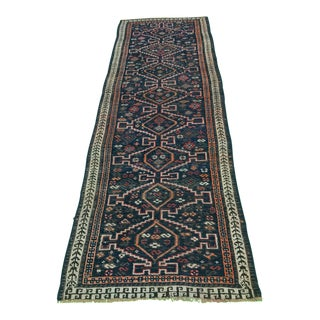 "Thick Wool Old Vintage Turkish Distressed Look Oushak Runner 3'1""x9'"