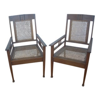 Frank Lloyd Wright Style Craftsman Chairs- A Pair