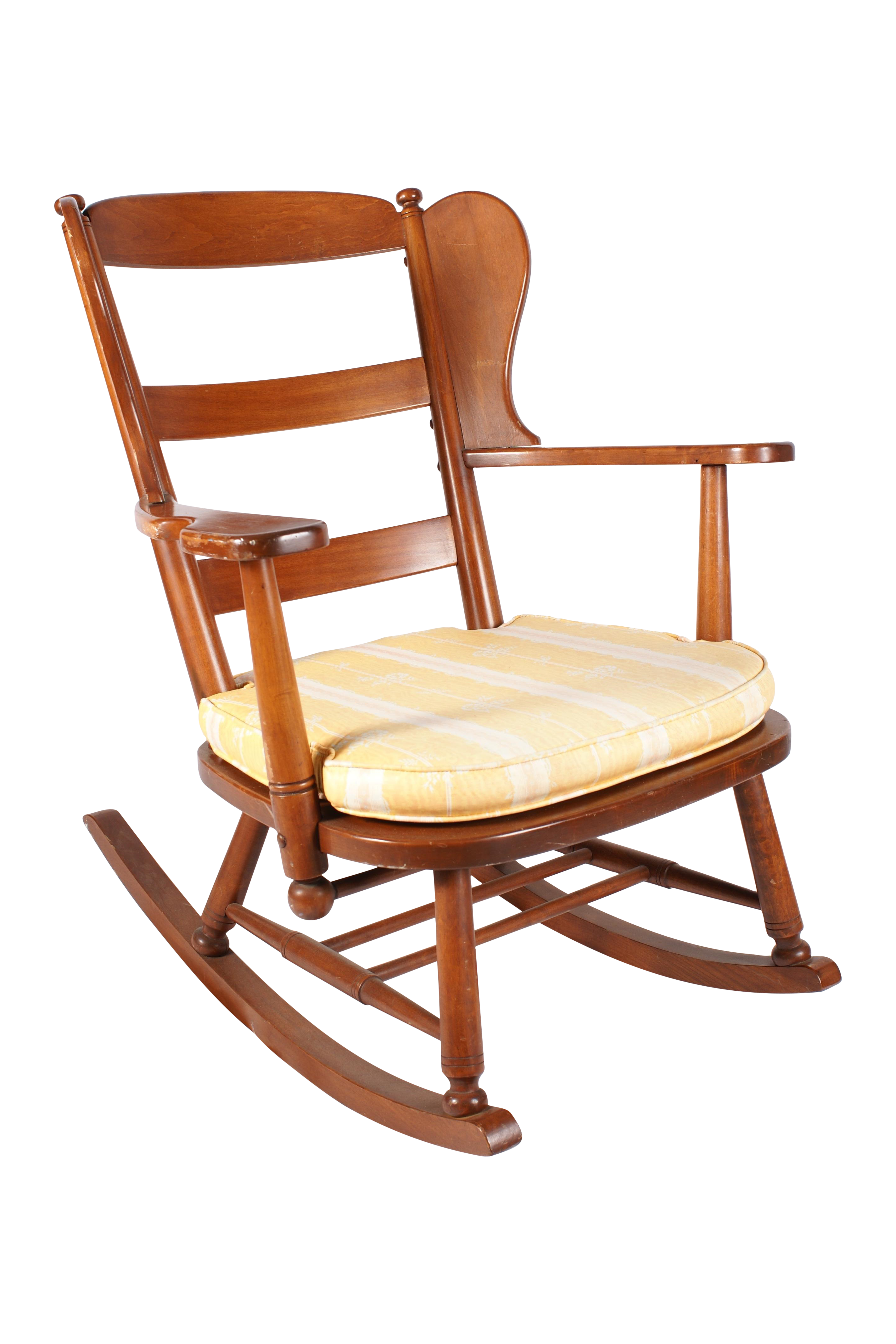 Wing Back Maple Rocking Chair