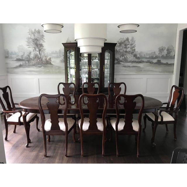 Thomasville Oval Coffee Table: Thomasville Collector's Cherry Dining Set