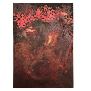 Abstract Oil On Canvas RED