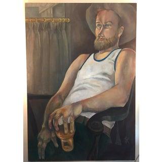 "Sybil Ross Kleiman Original ""Untitled"" Cowboy Painting"