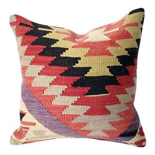 Vintage Turkish Kilim Square Pillow Cover