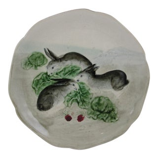 Choisy-le-Roi French Faïence Bunny Rabbit Plate