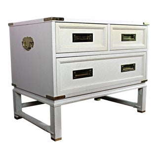 Ficks Reed Mid-Century Modern Campaign White Chest