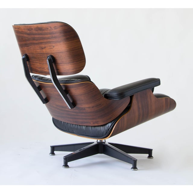 Vintage Eames Lounge Chair With Ottoman - Image 5 of 9