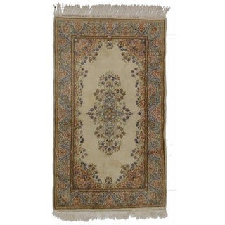Hand-Knotted Wool Persian Kerman - 2′11″ × 5′1″