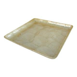 Square Capiz Shell Tray