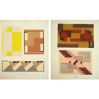 Paris Art Deco Carpet Design Sheets - A Pair
