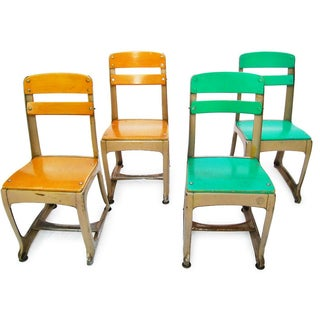 Envoy Seating Co Metal School Chairs - Set of 4