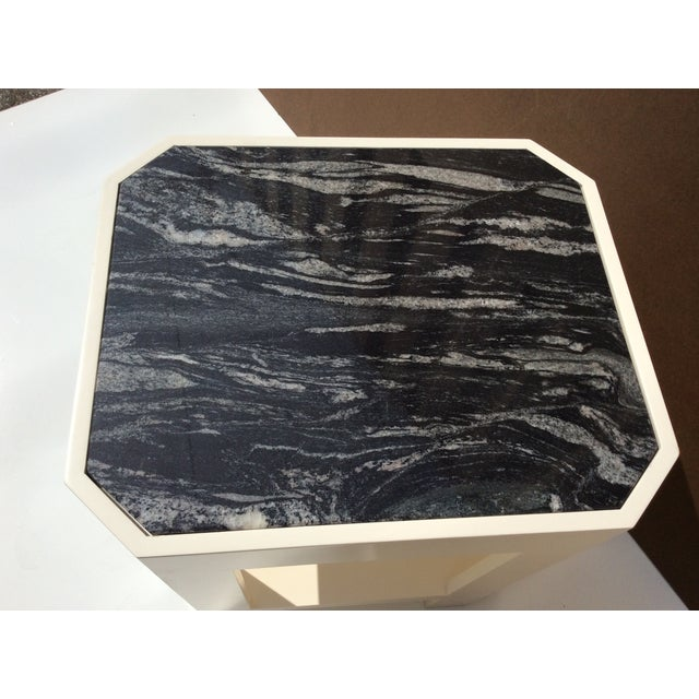 Black Marble Top Side Tables - A Pair - Image 6 of 11