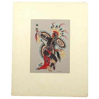 1930s Native American Painting by Woody Crumbo