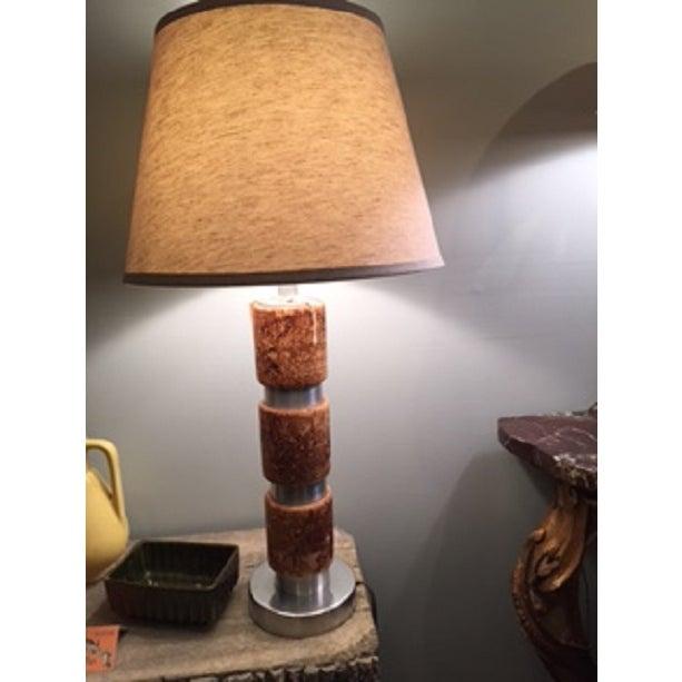 Russel Wright Cork & Aluminum Table Lamp - Image 2 of 4
