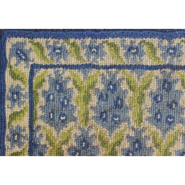 Stark Green & Blue Pinecone Needlepoint Rug - Image 2 of 3