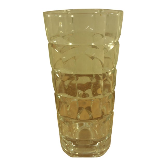 Mid-Century Crystal Glass Vase - Image 1 of 4