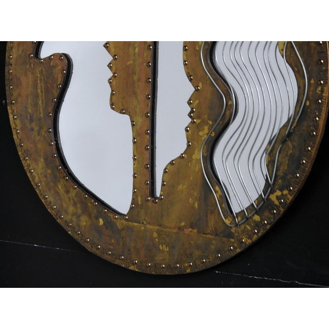 Abstract Modern Design Oval Mirror - Image 4 of 5