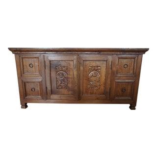 Solid Wood Carved Storage Dresser