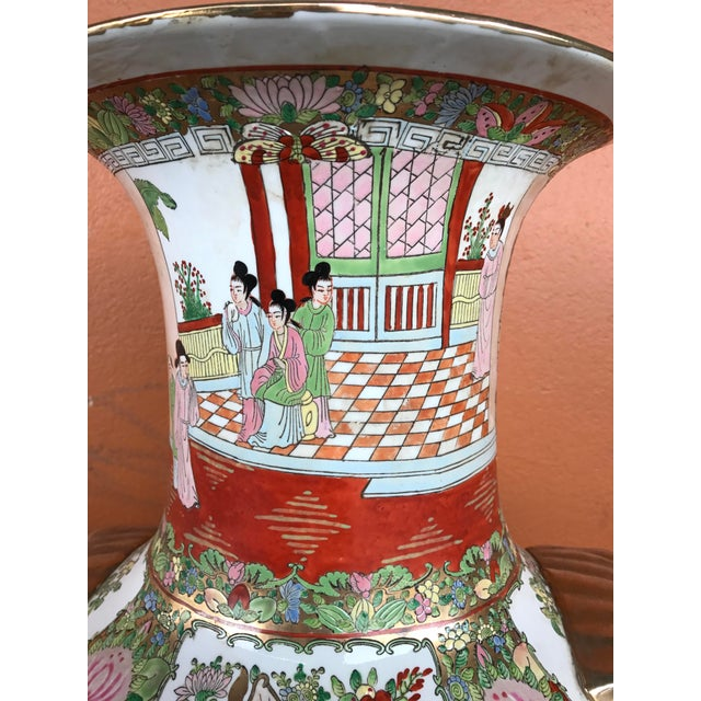 Rose Medallion Floor Vase - Image 8 of 9