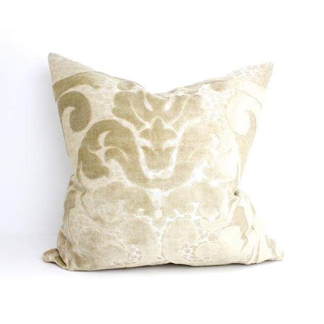 Cut Velvet Damask Pillow - Image 2 of 4