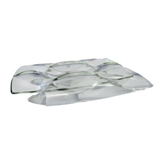 Hollywood Regency Wavy Lucite Tray