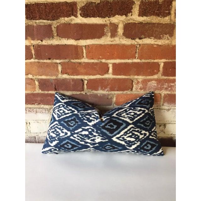 Robert Allen Boho Indigo Linen Ikat Pillow Cover - Image 3 of 3