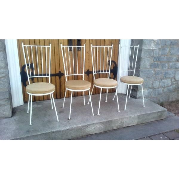 Mid-Century McCobb Style Wrought Iron Chairs - Set of 4 - Image 2 of 8