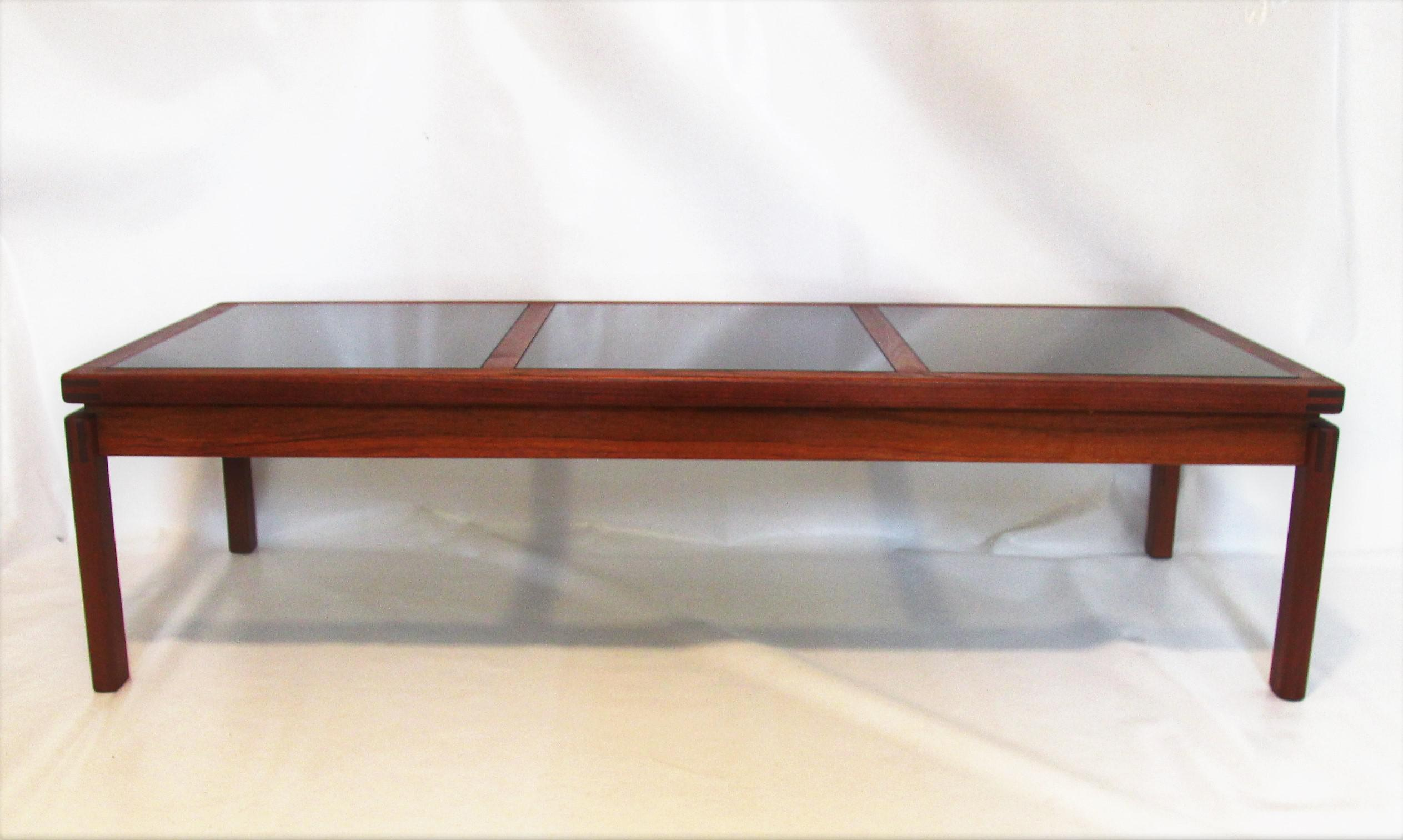 Mid Century Modern Teak U0026 Smoked Glass Coffee Table   Image 3 ...