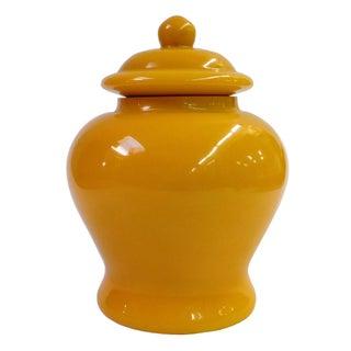 Chinese Yellow Peking Glass Jar