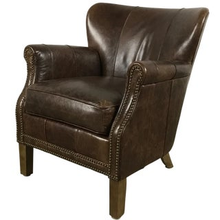 Pinned Leather Side Chair