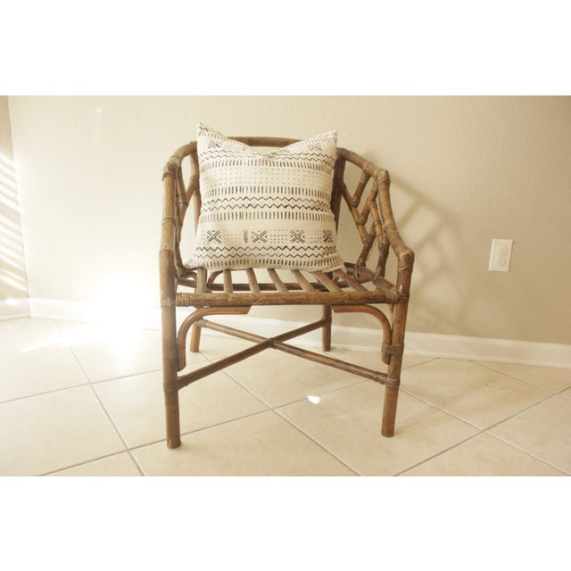 Rattan Chippendale Barrel Armchair - Image 6 of 7