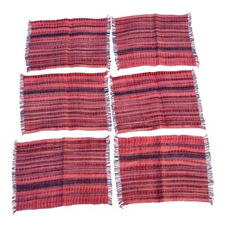 Wax Resist Tie Dye Homespun Place Mats- Set of 6
