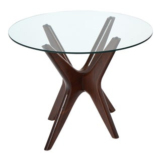 Mid-Century Modern Asymmetrical Rosewood Side Table