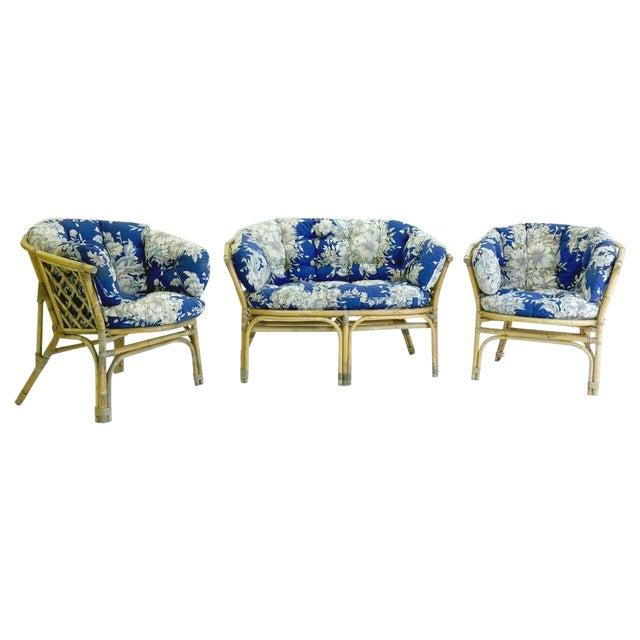 Mid-Century Danish Rattan Lounge Set - 3 - Image 1 of 10