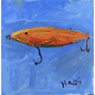 """Orange Fishing Lure"" Painting"
