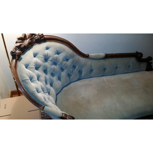 Antique Victorian Fainting Couch - Image 3 of 10