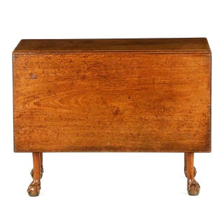 English George II Walnut Ball and Claw Foot Drop Leaf Table