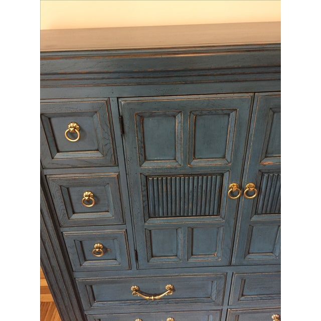 Drexel Heritage Blue Armoire - Image 6 of 11